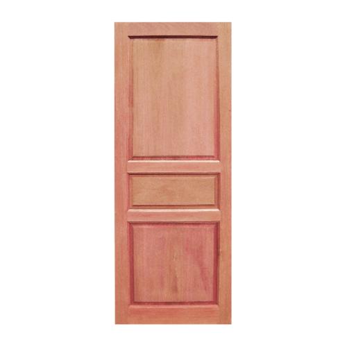 BEST ประตูไม้สยาแดง บานทึบ 3ลูกฟัก ขนาด 90x220ซม. GS-40