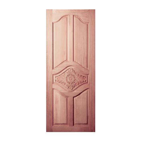BEST  ประตูไม้สยาแดง บานทึบลูกฟักแกะลาย ขนาด 100x204ซม. GC-53