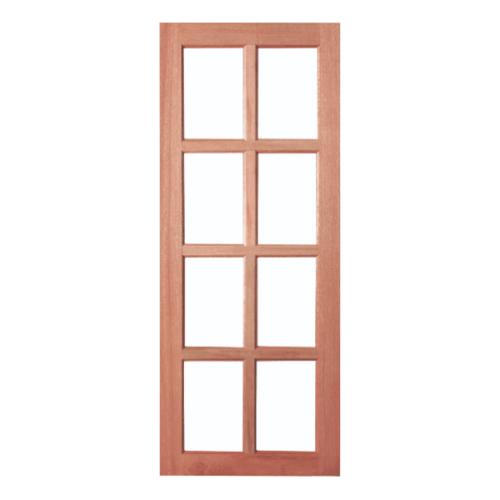 BEST สพ-ประตูไม้จาปาร์ก้า 8ช่องพร้อมกระจกใส ขนาด 70x200ซม. GS-48