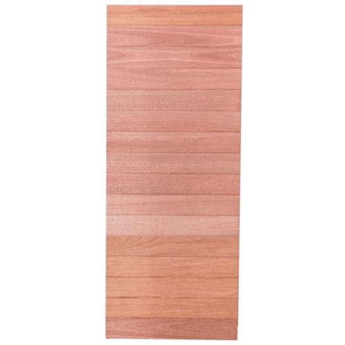 BEST ประตูไม้สยาแดง ทึบ ขนาด 100x220 cm. Trend-01