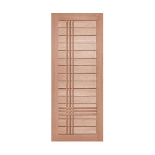 BEST ประตูไม้สยาแดงบานทึบขนาด 90x200 ซม. GS-52P