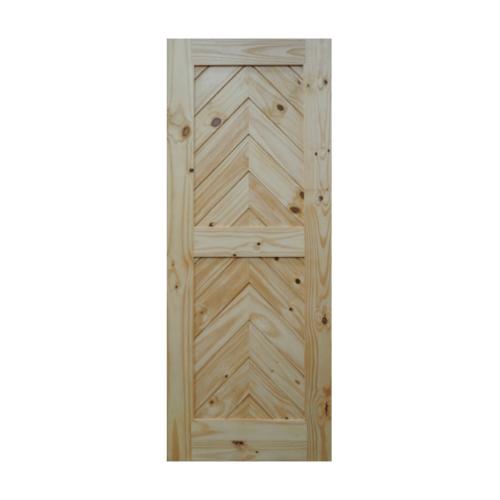 BEST  ประตูไม้สน บานทึบทำร่อง (โรงนา) ขนาด 100x200ซม. GB-05