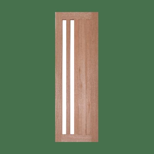 BEST ประตูไม้สยาแดงพร้อมกระจกใส ขนาด 60x206ซม.  GS-47