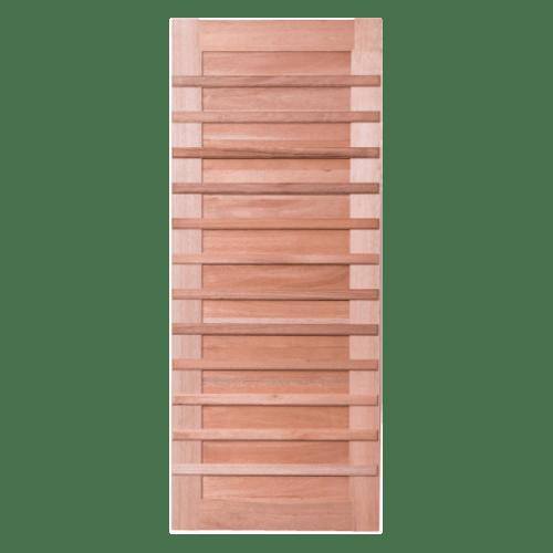 BEST ประตูไม้สยาแดงบานทึบ ขนาด 120x240ซม. GS-59