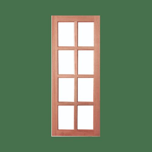 BEST ประตูไม้สยาแดงพร้อมกระจกใส   80x200ซม.  GS-48