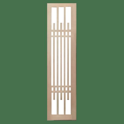BEST ประตูไม้สยาแดงพร้อมกระจกใส ขนาด 50x200ซม. GS-63 ทำสี ไม่ระบุสี