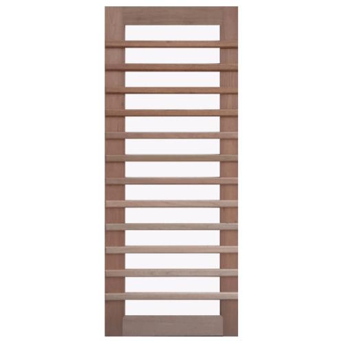 BEST ประตูไม้สยาแดง กระจกใส ขนาด 90x200 cm.ทำสี  GS-59