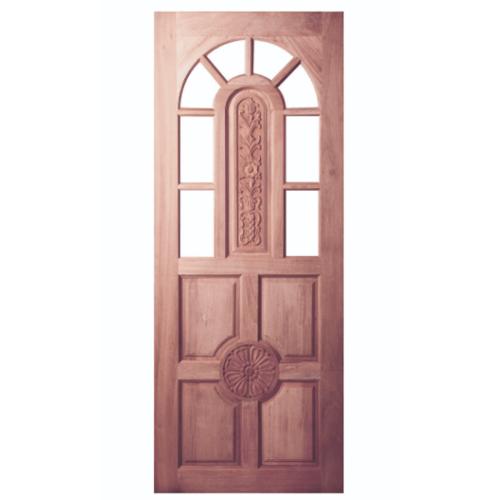 BEST ประตูไม้สยาแดงบานแกะลาย(โปร่ง) ขนาด 80x200 ซม. GC-76โปร่ง