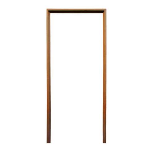 BEST วงกบประตูไม้เนื้อแข็งพร้อมซับ  ขนาด 310x210 cm สีโอ๊ค