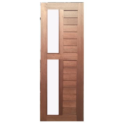 BEST ประตูไม้สยาแดง  กระจกใส/ทำสี ขนาด 80x220 cm. GS-57