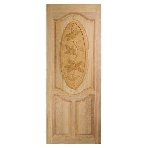 BEST ประตูไม้จาปาร์ก้า บานทึบลูกฟักแกะลาย ขนาด  90x200cm.  GC-54