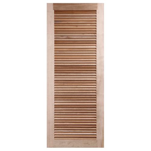 BEST ประตูไม้สน เกล็ดเต็มบาน ขนาด 90x200cm.  GS-23