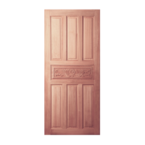 BEST ประตูไม้สยาแดง ขนาด 100x200 cm. GC-32ทึบ