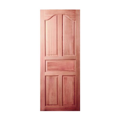 BEST ประตูไม้สยาแดง บานทึบ 5 ฟักปีกนก 80x200 ซม. GS-30