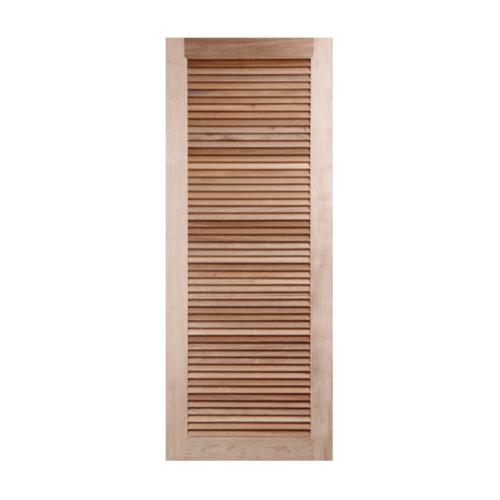 BEST ประตูไม้สยาแดง เกล็ดเต็มบาน ขนาด80x220cm.   GS-23