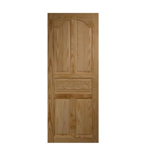 BEST ประตูไม้สน บานทึบลูกฟักแกะลาย ขนาด 80x180cm.  GC-52