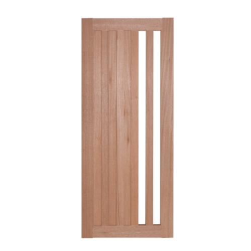 BEST ประตูไม้สยาแดง กระจกฝ้า ขนาด 90x220 cm. GS-47