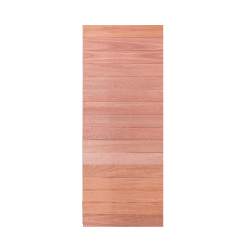 BEST ประตูไม้สยาแดง บานทึบทำร่อง ขนาด 100x220cm.  Trend-01