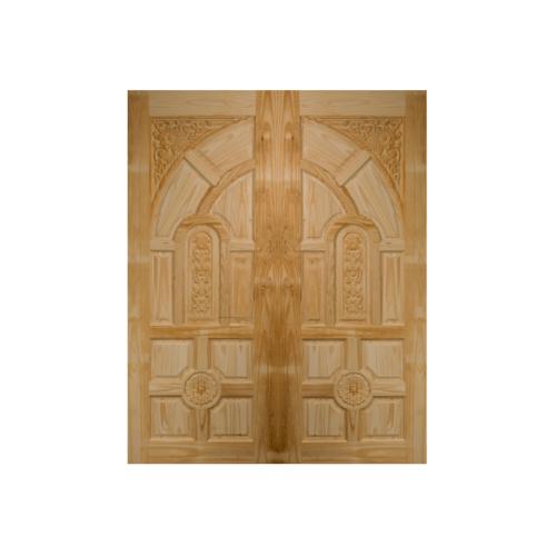 BEST ประตูไม้สน บานทึบลูกฟักแกะลายขนาด 80x225cm.   GC-01