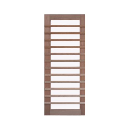 BEST ประตูไม้สยาแดง กระจกฝ้า ขนาด 90x200 cm. GS-59