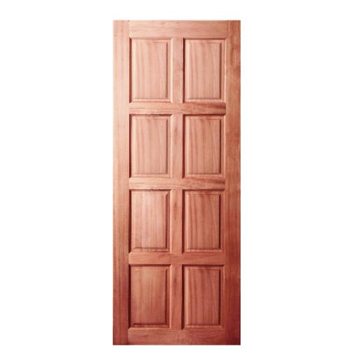 BEST ประตูไม้สยาแดง บานทึบ 8ฟัก  80x180 cm.                              GS-48
