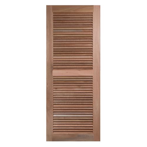BEST ประตูไม้สยาแดง ขนาด90x200cm. GS-24