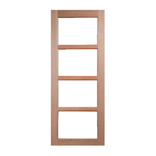 BEST ประตูไม้สยาแดง (โปร่ง)ขนาด40x200cm GS-50
