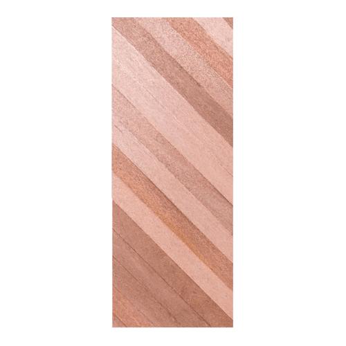 BEST ประตูไม้สยาแดง บานทึบทำร่อง ขนาด 90x200ซม. Trend-05