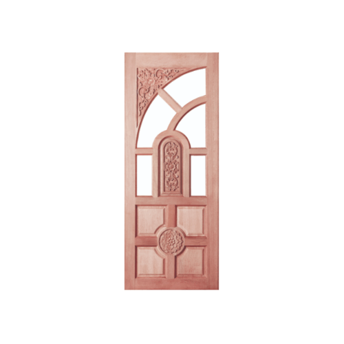 BEST ประตูกระจกไม้สยาแดง ขนาด 100x200 cm. GC-01