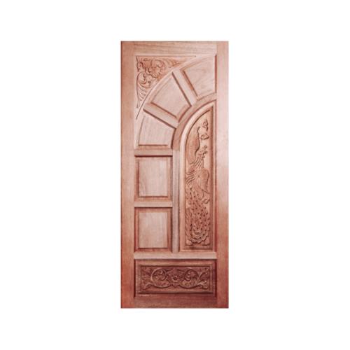 BEST ประตูไม้สยาแดงบานทึบแกะลาย 90x200 ซม.  GC-06
