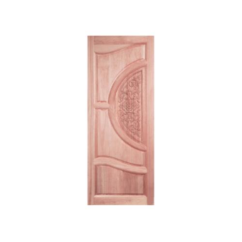 BEST ประตูไม้สยาแดงบานทึบลูกฟักแกะลาย ขนาด 100x200 cm. GC-07