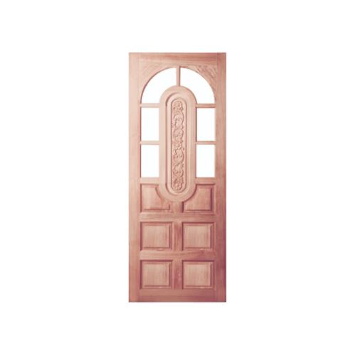 BEST ประตูไม้สยาแดงลูกฟักแกะลาย (โปร่ง) ขนาด 80x180 cm. GC-73