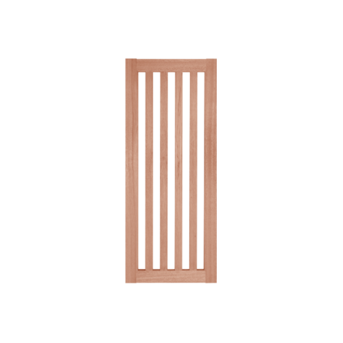 BEST ประตูไม้สยาแดง พร้อม(กระจกฝ้า) 80x200cm.  GS-46