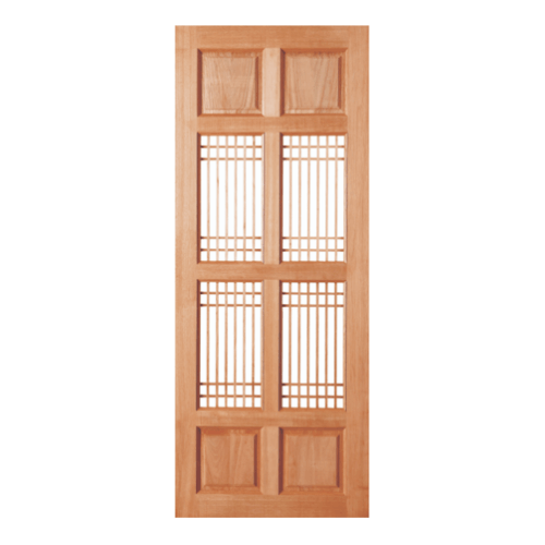BEST ประตูไม้สยาแดงลูกฟัก (โปร่ง)  ขนาด 80x200 cm. GS-20