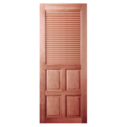 BEST ประตูไม้สยาแดง ขนาด 100x200cm.  GS-25