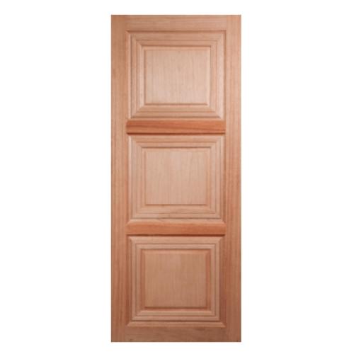 BEST ประตูไม้สยาแดง บานทึบ ขนาด 90x200cm.  GS-41