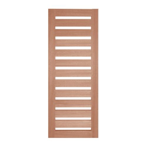 BEST ประตูกระจกใสไม้สยาแดง ขนาด  90x200 cm. GS-55