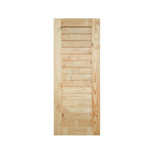 BEST ประตูไม้สน บานทึบทำร่อง 90x200ซม.  GS-52