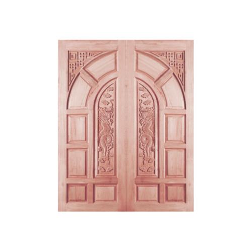 BEST ประตูไม้จาปาร์ก้าบานทึบลูกฟักแกะลาย ขนาด 90x200 cm. GC-03