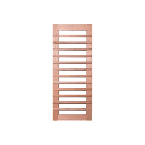 BEST ประตูไม้สยาแดงพร้อมกระจกใส 120x245ซม. GS-59