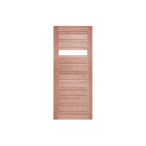 BEST ประตูกไม้สยาแดงพร้อมกระจกใส    110x210   ซม. GS-53