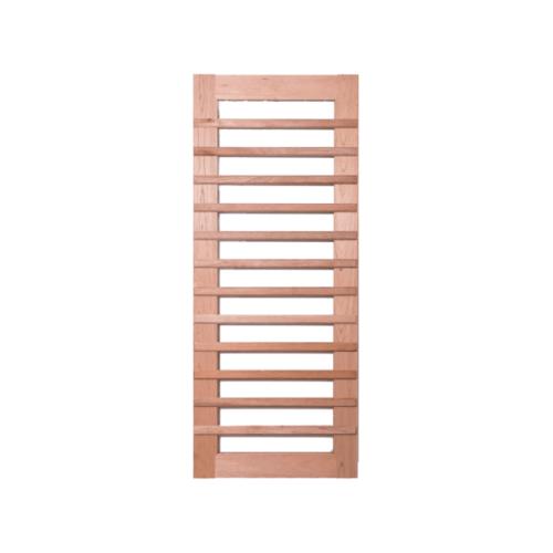 BEST ประตูไม้สยาแดงพร้อมกระจกใส  ขนาด100x240 cm GS-59