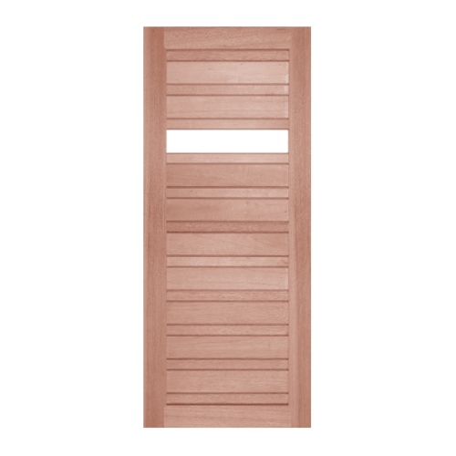 BEST ประตูกระจกใสไม้สยาแดง ขนาด 140x200 cm. GS-53