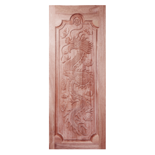 BEST ประตูไม้สยาแดง ขนาด 120x200 cm. GC-17