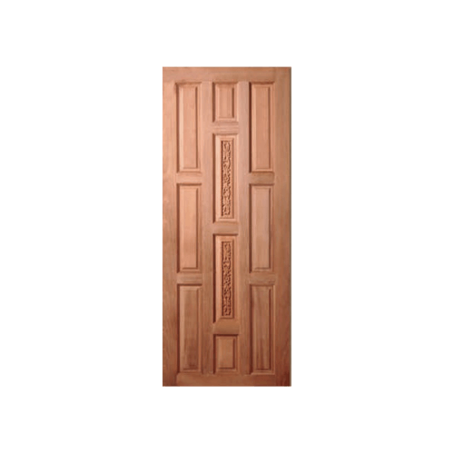 BEST ประตูไม้สยาแดบานทึบลูกฟักแกะลาย  ขนาด 80x200 cm. GC-38
