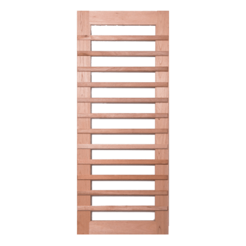 BEST ประตูกระจกใสไม้สยาแดง ขนาด100x220 cm.  GS-59