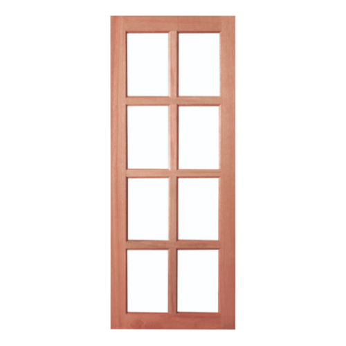 BEST ประตูกระจกไม้สยาแดง ขนาด 80x200 cm. GS-48