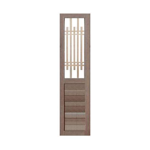 BEST ประตูกระจกไม้สยาแดง ขนาด 50x200 cm.  GS-65