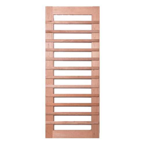 BEST ประตูกระจกใสไม้สยาแดง ขนาด 90x210 cm. GS-59