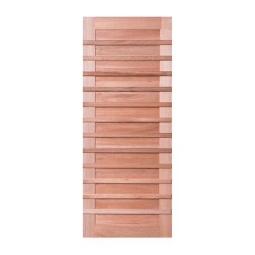 BEST ประตูไม้จาปาร์ก้า ขนาด 100x200 cm. GS-59